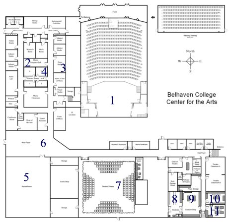 Center for the arts virtual tour belhaven university center for the arts blueprint malvernweather Gallery