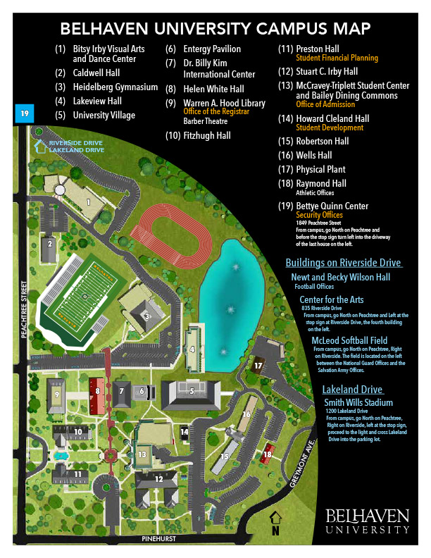 Riverside Campus Map.Virtual Tour Of Belhaven University Campus In Jackson Ms