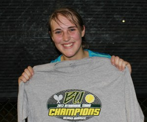 Woman Intramural Tennis Champ