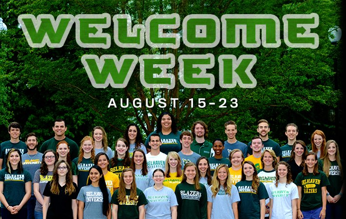 Belhaven University's Welcome Week