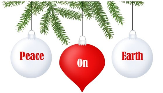 free christmas peace on earth clipart - photo #1