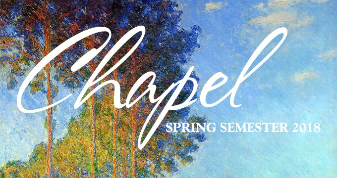 Spring Chapel schedule announcement Image