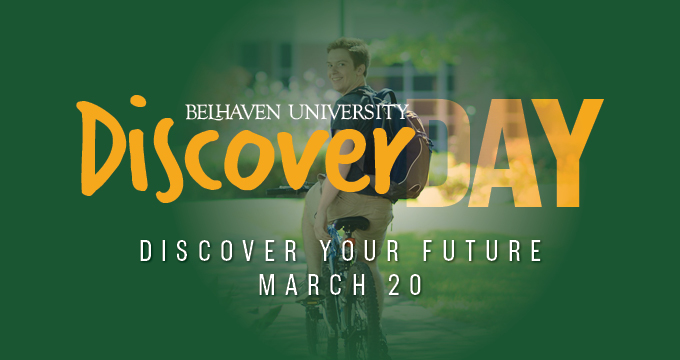 Belhaven University's Discover Day announcement Image