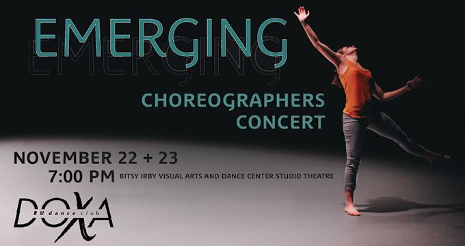 DOXA Emerging Choreographers Concert accouncement Image
