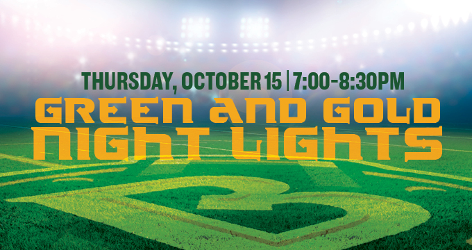 Green and Gold Night Lights Image