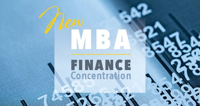 MBA finance concentration announcement Image