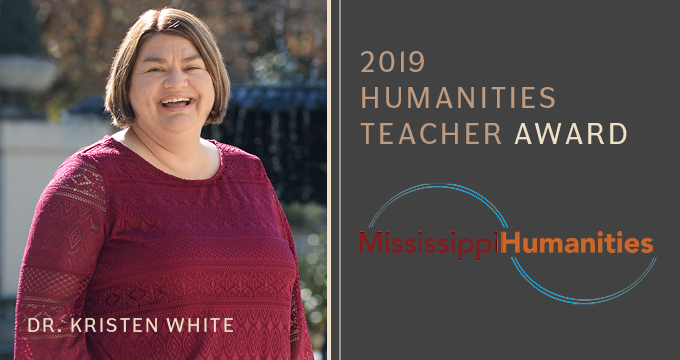 Mississippi Humanities Award - Dr. White announcement Image