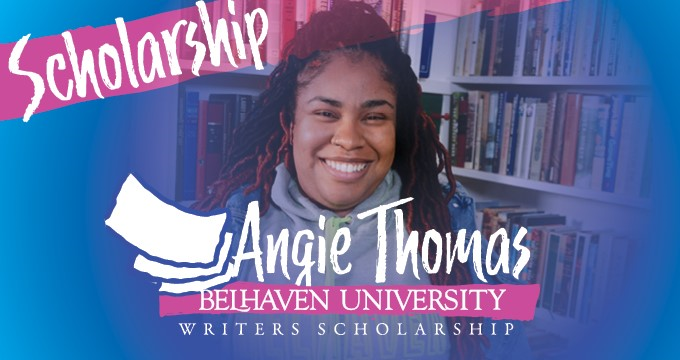 Angie Thomas Writers Scholarship announcement Image