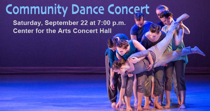 community dance concert announcement Image