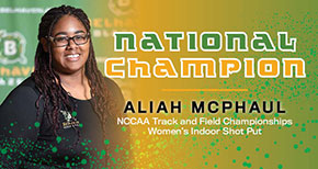 McPhaul Earns National Champion Title for Track & Field