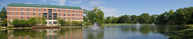 Gillespie Hall and Belhaven Lake, Jackson, MS campus