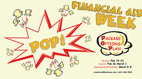 POP-In to Financial Aid For Prizes, Food and Help