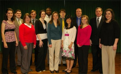 Who's Who Award Winners at Belhaven College